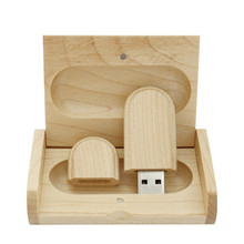 Wholesale LOGO customized Wooden USB flash drive pen drives Maple wood+Packing box pendrive 4GB 8GB 16GB 32GB memory stick gift(China (Mainland))