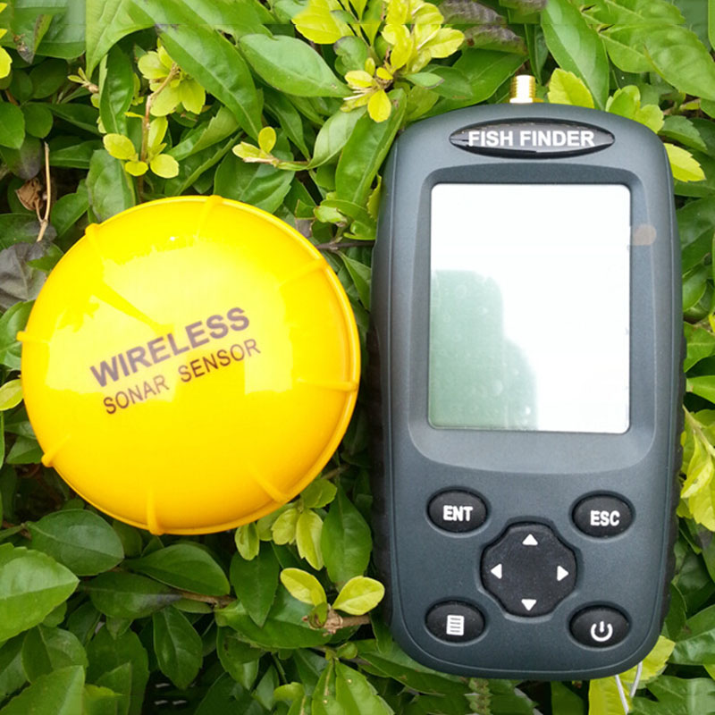 2016 New FF998 Fish finder Upgrade Russian menu Rechargeable Waterpoof Wireless Fishfinder Sensor 125KHz Sonar Echo Sounder(China (Mainland))