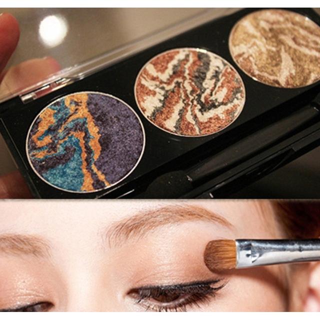3 цвета смешивания планеты минеральная запеченный палитра теней eye shadow 2016 последней моды для женщин косметика