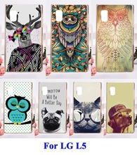 Hard Plastic Mobile Phone Accessories Parts For LG Optimus L5 E610 E612 Cases DIY Painted Anti knock Cell Phone Skin Cover