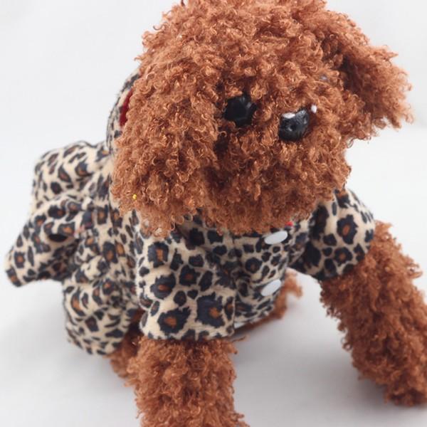 2017 Pets Dogs Leopard Pattern Tutu Coat Dress Puppy Hoodies Sides Wear clothing Dogs H1