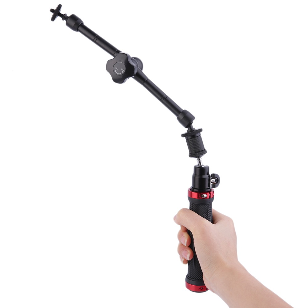 New Professional 3 Way Hand Grip Extension Arm Tripod Adjustable Camera Mount Monopod Universal For Gopro HD Hero 2 3 3+ 4(China (Mainland))