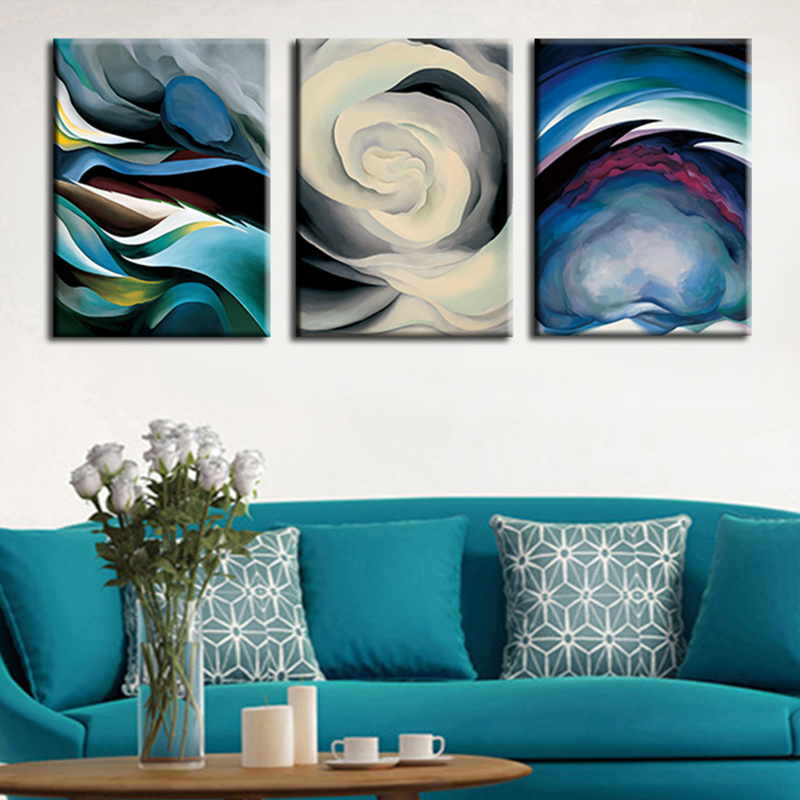 Wall Art Pictures 3 Planes Abstract Art Print Poster For Home Decoration Wall Decor Live Room Decorative Canvas Paint(China (Mainland))