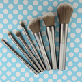 7Pcs Pro Techniques Makeup Brushes Set Synthetic Hair Metal Rod Handle Powder Eyebrow Eyeshadow Cosmetic Brushes