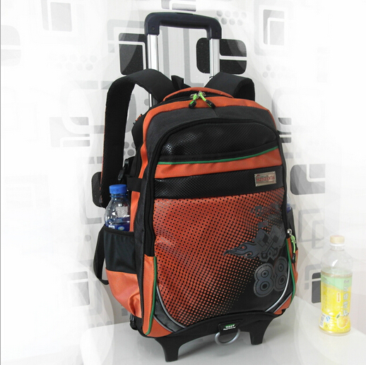 2015 new backpack child school bags kids bag school bags with wheels bolsa mochila infantil trolley bags detachable &88049