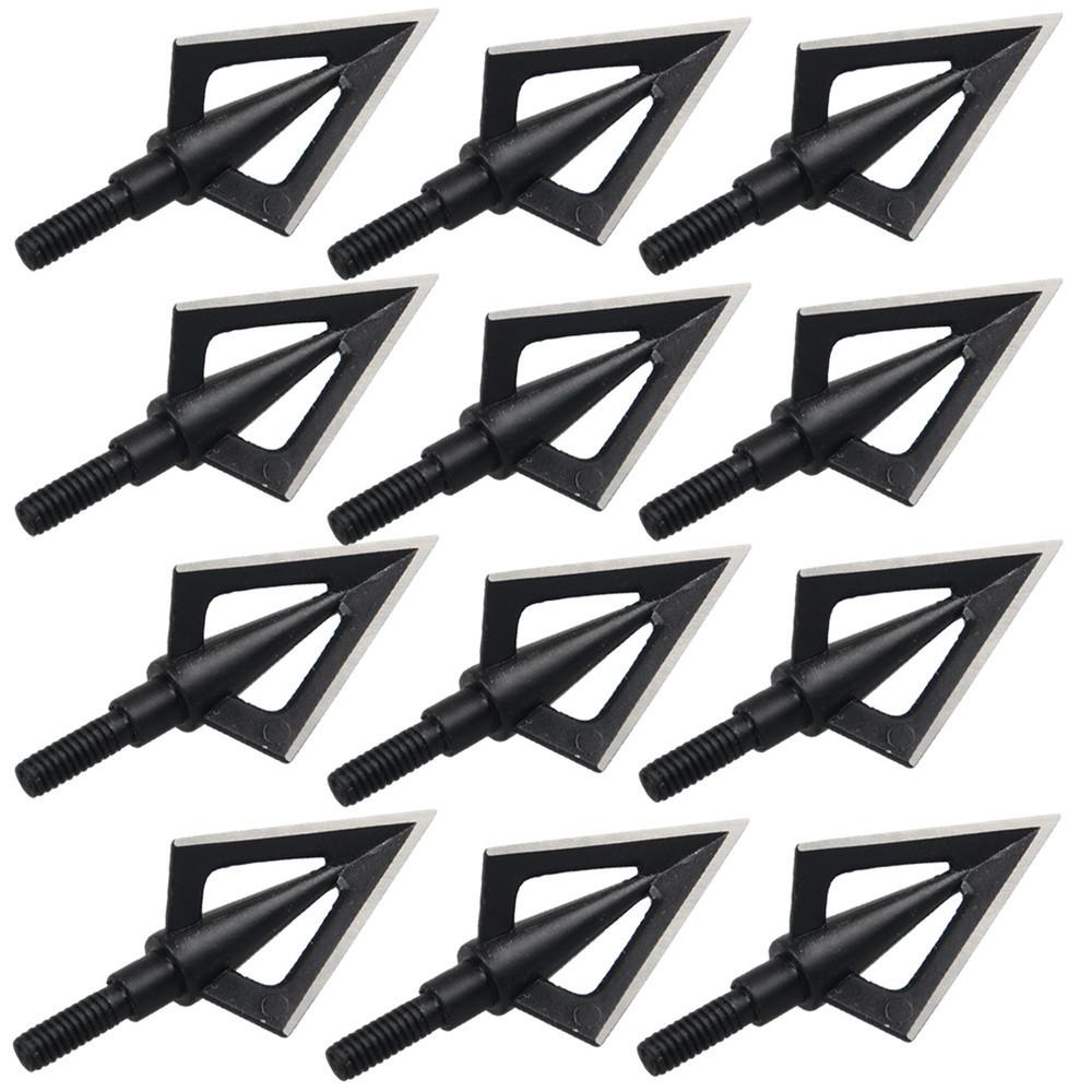 100 Grain Steel Broadheads Arrow Heads Tips Arrow Points Archery Hunting 3PK