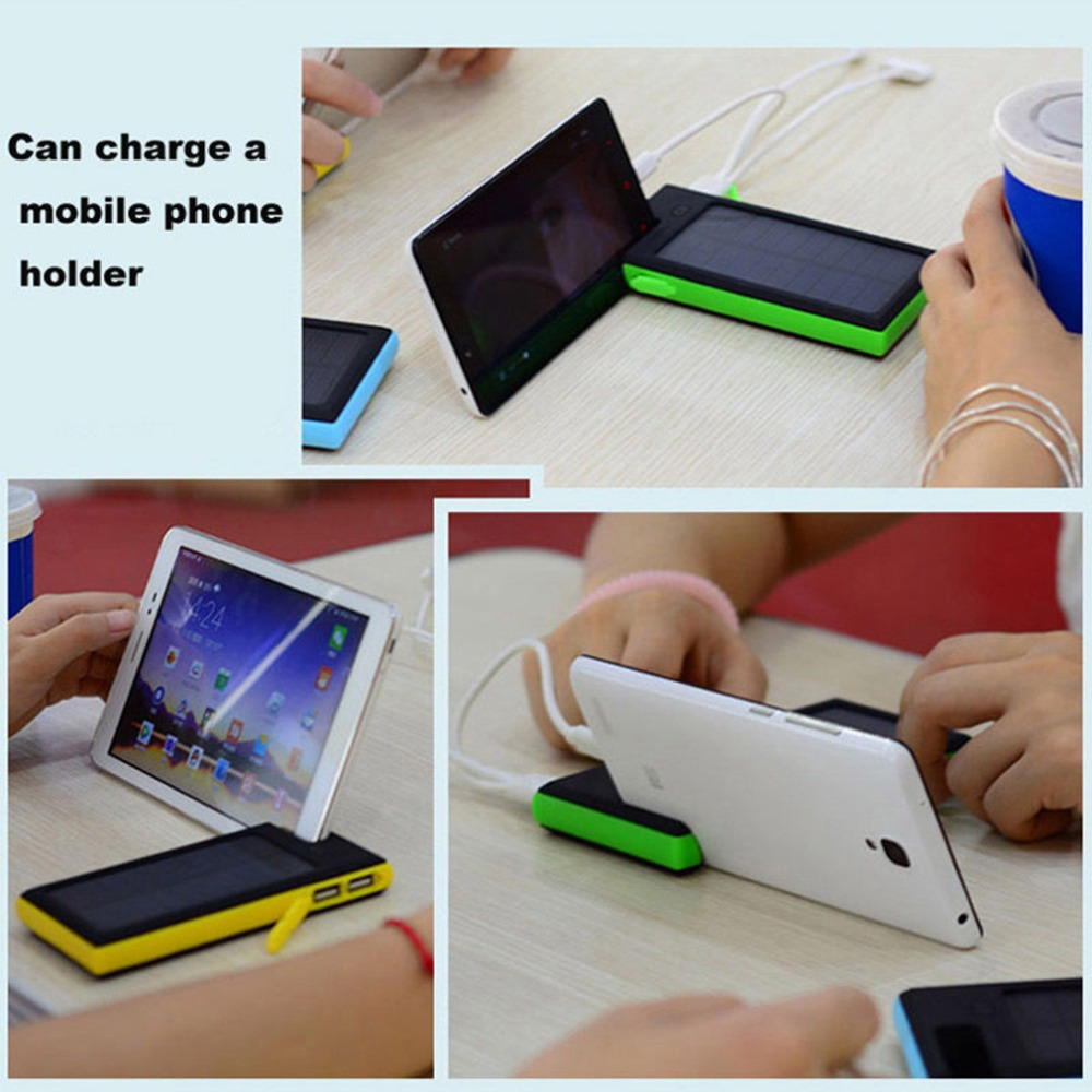 High Quality 12000mAh Dual USB Solar Power Bank LED Battery Charger For Cell Phone Pad<br><br>Aliexpress