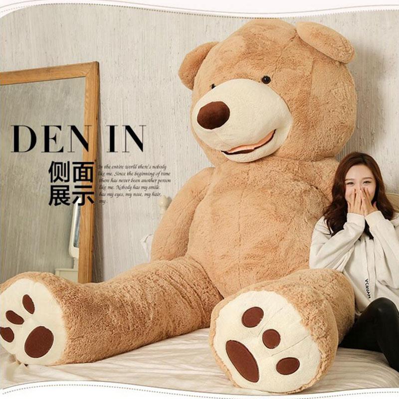 Kawaii 200cm American Giant Bear Teddy Bear Doll Stuffed And Plush Animals ToysFor Girlfriend Birthday Gift Valentine's Day(China (Mainland))
