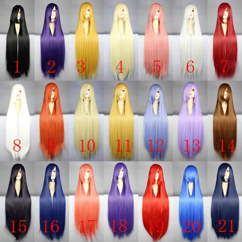 MCOSER 21 COLOR new free shipping long straight hair wig Korean girls simulation with bangs hairstyle half head jiafa(China (Mainland))
