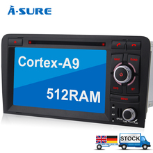 A-Sure RDS Radio DVD GPS sat nav in car navigation for AUDI A3 S3 RDS 8GB-SD Bluetooth Stereo 3G WiFi (L4A3)(China (Mainland))