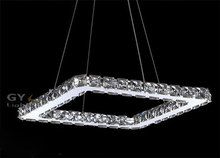 AC100-240V 20/40/60/80cm Squre LED Pendant lights Modern Crystal Lampshade Lustres hanging lamparas colgantes luminaire New