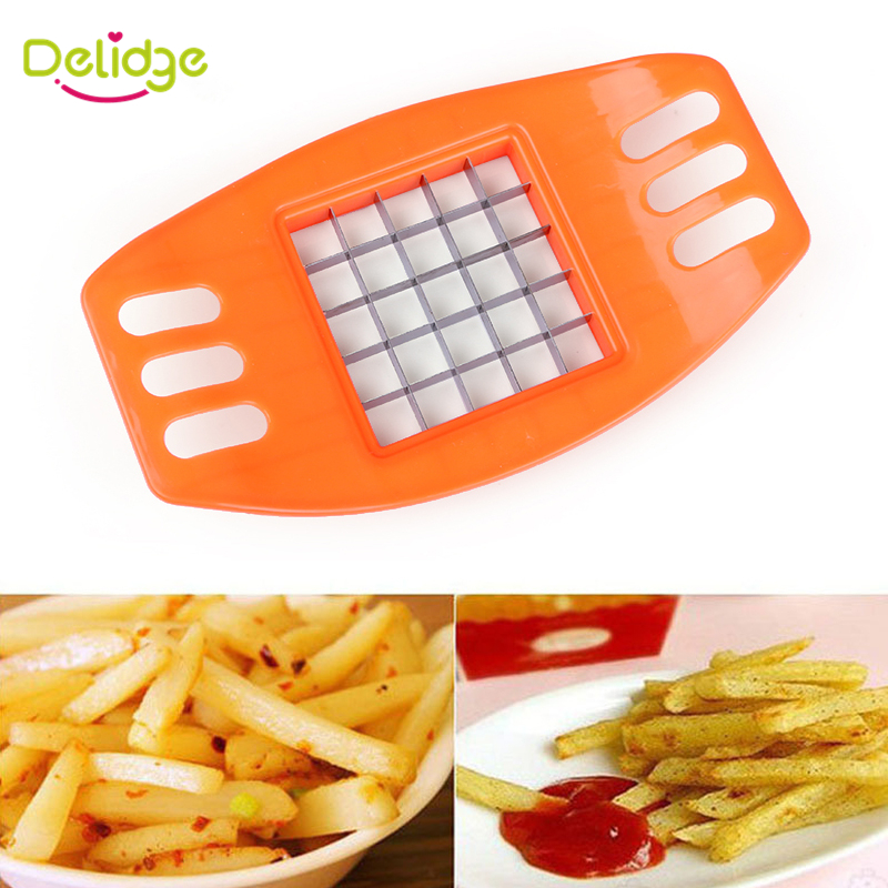 1 pcs Stainless Steel Vegetable Potato Slicer Cutter Potato Cutting Device Square Slicers Cut Fries Device Potato Cutter(China (Mainland))