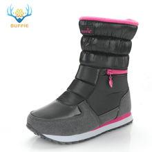 Winter laarzen vrouwen warme schoenen sneeuw boot 30% natuurlijke wol schoeisel witte kleur BUFFIE 2019 big size rits mid- kalf gratis verzending(China)
