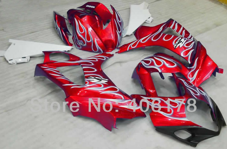 Hot Sales,GSXR1000 07 08 Body Kits For Suzuki GSX-R1000 2007 2008 Red Silver Black Sport Motorcycle fairing (Injection molding)(China (Mainland))