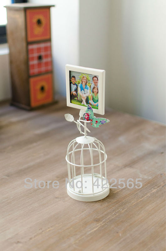 Free Shipping! 2014New Design Metal candle Holder with Frame Iron Lantern with picture frame Photo Frame with Candle holder41060(China (Mainland))