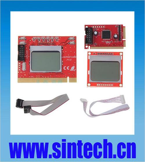 dual LCD Mini PCI-E/LPC laptop/PCI PC diagnostic test tester debug post card for laptop and desktop(China (Mainland))