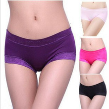 Women Modal Panty High Waist Breathable Trigonometric Panties Plus Size Female Underwear Body Shaping Briefs Free Size fit most(China (Mainland))