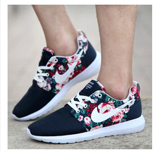 Top Quality 2015 New Design Flower fashion casual women men shoes hot sale air Mesh casual breathable shoes woman(China (Mainland))