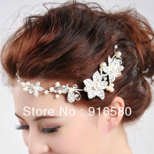 discount bridal pearl tiara ornament hair accessories wedding hair