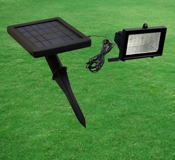 Outdoor led solar powered lawn wall flood light in