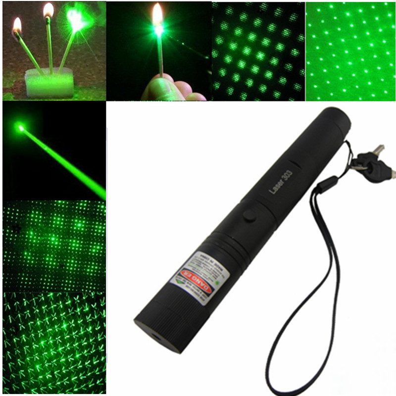 50000mW 532nm Laser Pointer High Powered Adjustable Focus Burning Match Green Laser 303 Pointer Pen with Safe Key for Sale(China (Mainland))