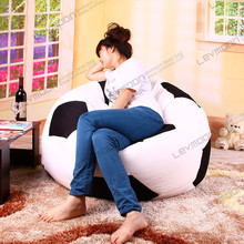 FREE SHIPPING football bean bag cover without filling football bean bag sofa diameter 120cm bean bags use 100% cotton canvas(China (Mainland))