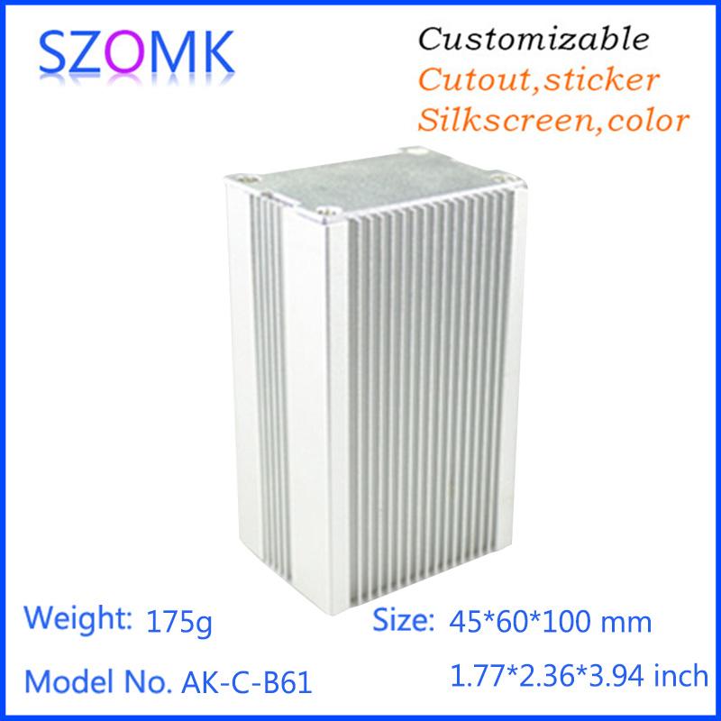 1 pc, 45*60*100mm szomk aluminum housing electronics enclosure diy project box hot selling aluminum pcb amplifier extruded box(China (Mainland))