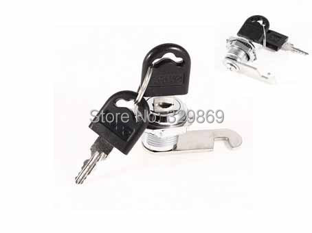 Tool Box Cabinet Locking 18mm Dia Thread Cylinder Cam Lock w Keys