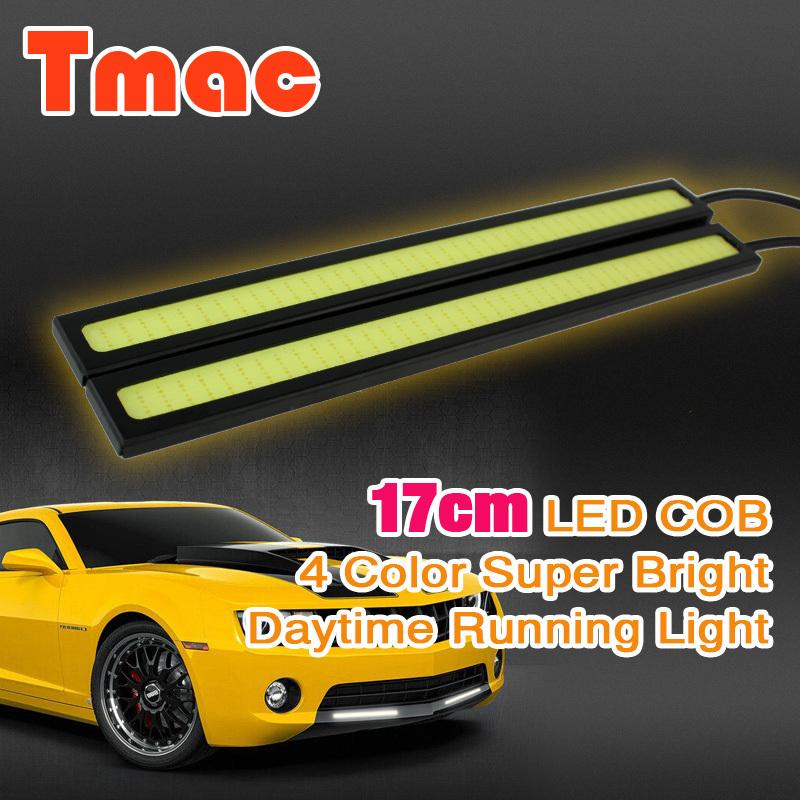 Car styling 2pcs/lot DLR 17cm cob Daytime Running light LED driving car light parking lights fog lamp 100% Waterproof(China (Mainland))