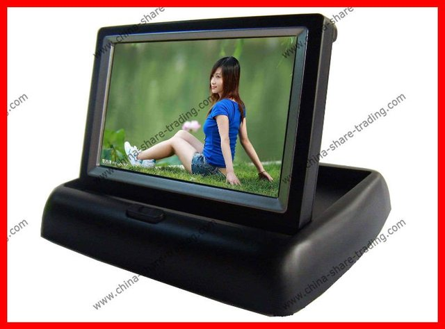 "4.3"" inch foldable LCD TFT car Rear view Monitor Rearview Reverse Backup Camera"