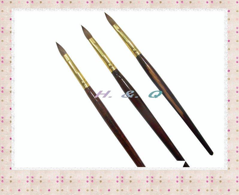 wholesale #8 nail art brush kolinsky acrylich brush with rosewood handle HQ-A020(China (Mainland))