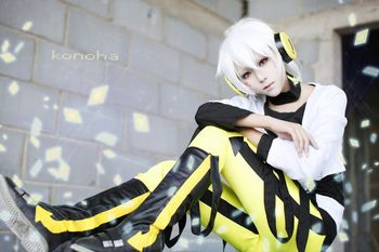 [Kagerou Project] Konohaharuka 35 cm White Anime Cosplay Wig