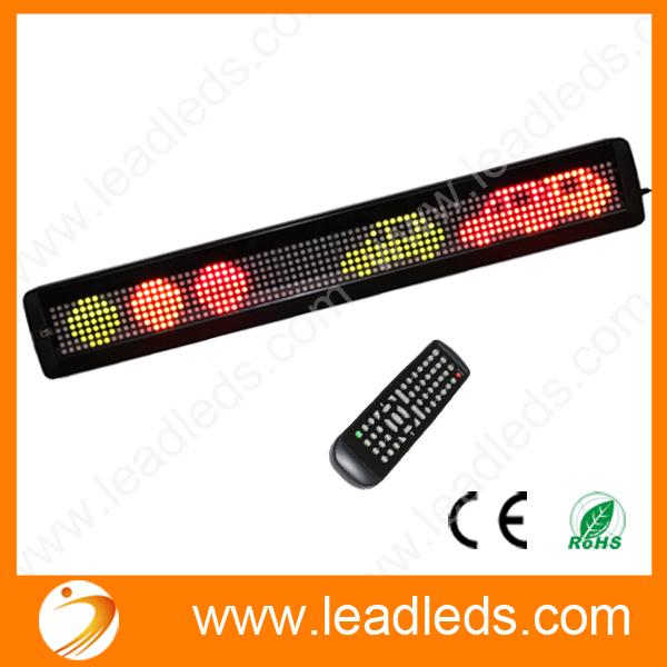 IR Remote RGY Programmable LED Moving Scrolling Message Display Sign Indoor Board(China (Mainland))