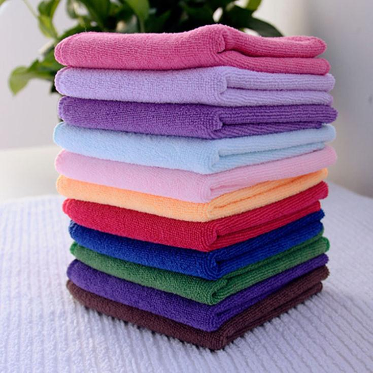 Wholesale 10pcs Square Luxury Soft Fiber Face/Hand Car Cloth Towel 24.5*23.5cm House Cleaning(China (Mainland))
