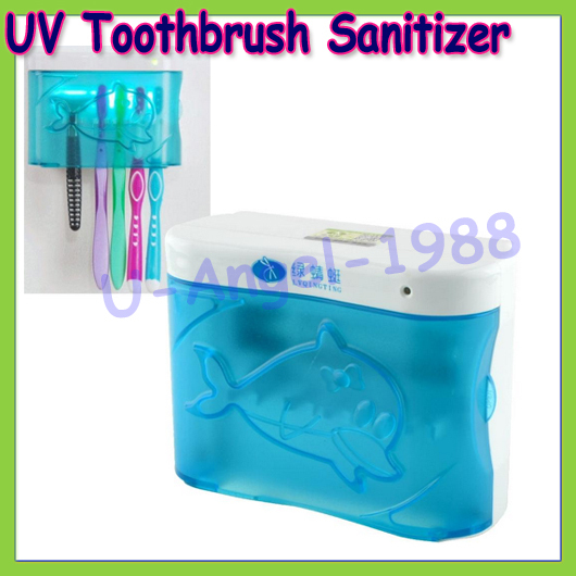 1pcs New UV Toothbrush Sanitizer Sterilizer Holder Cleaner Bathroom Box High Quality +free shipping