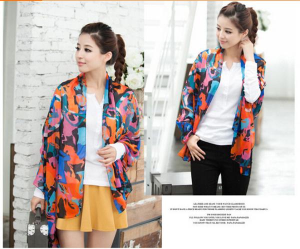 15 colors 160 50CM Chiffon silk scarf 2015 scarf female summer all match scarf long design