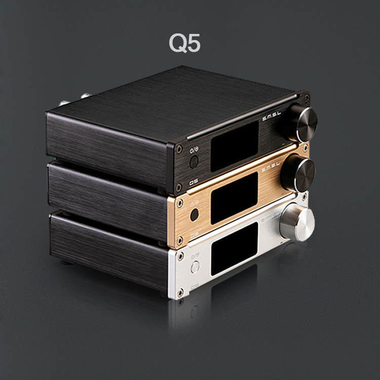 SMSL Q5 new Optical Coaxial USB DAC amp HIFI EXQUISDigital Amplifier with Remote Control 192khz high power 50wx2 Free Shipping(China (Mainland))