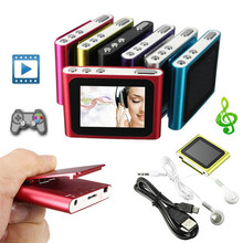 6th Gen 1.8 Inch screen Clip FM Radio  Mp3 Player Support 4/8/16/32GB Micro SD/TF Including Headphone And Mini USB Cable(China (Mainland))