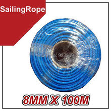 Whole-Sale 8 MM UHMPE Sailing Rope Yachting Rope 100 M/Roll(China (Mainland))