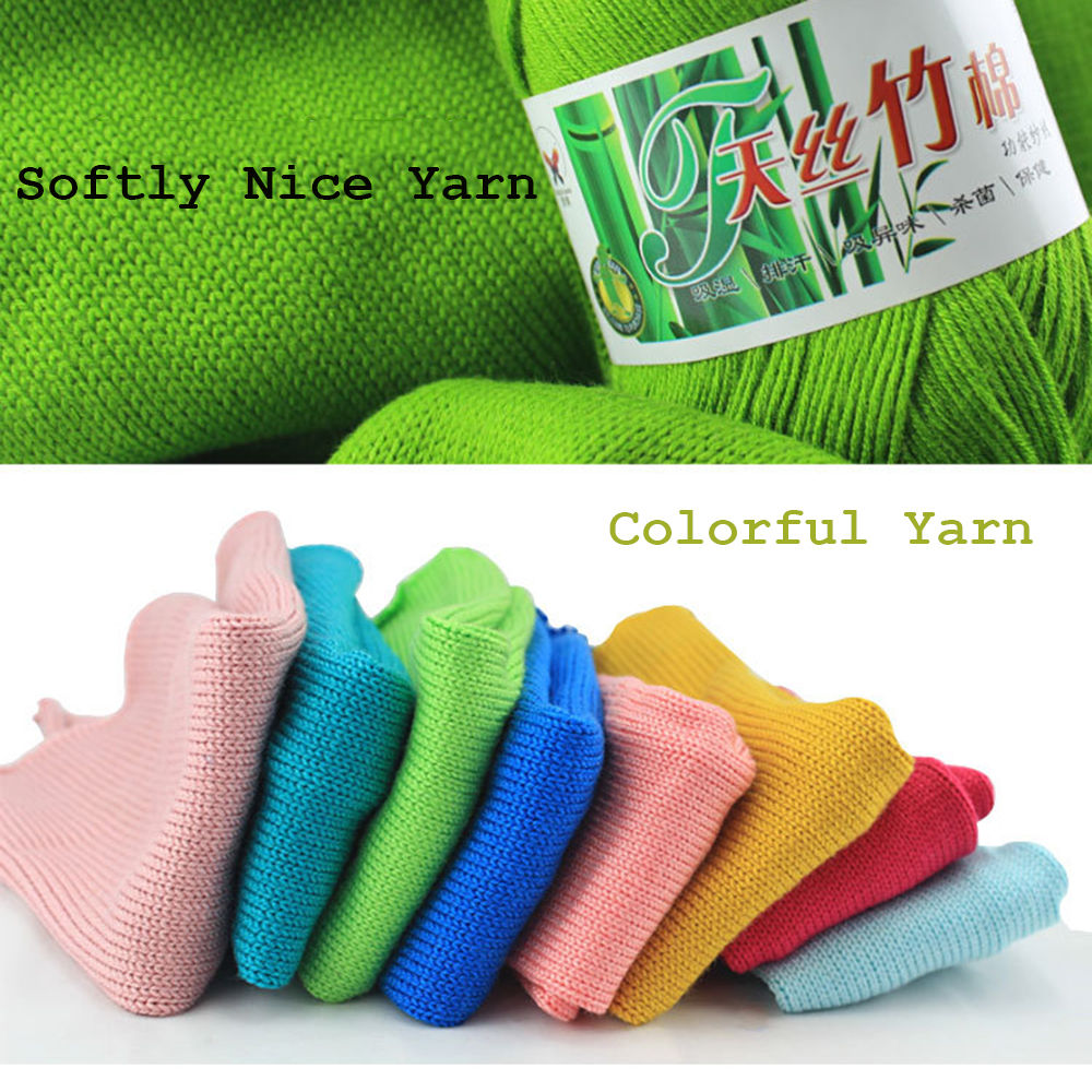 Wholesale Popular Colors Super Soft Natural Smooth Bamboo Cotton Knitting Yarn