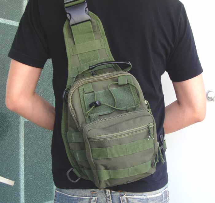 Tactical Molle Utility Gear Shoulder Sling Bag Olive S size sports bag free shipping(China (Mainland))