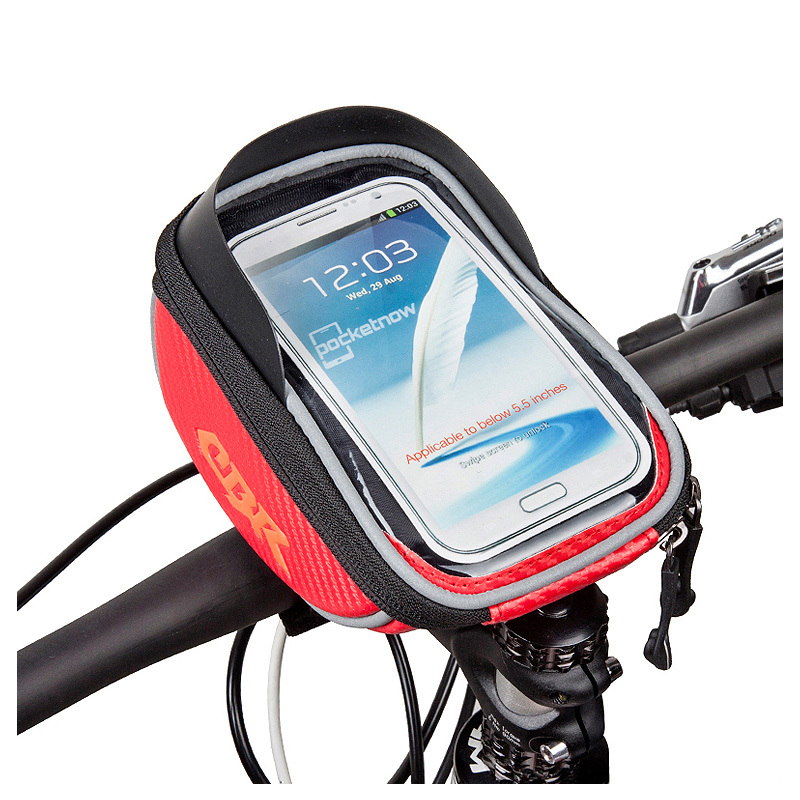 New Arrival 5.5 inch MTB Bicycle Touchscreen Phone Bag Bike Front Handlebar Bag to Bike for 6 Plus 3 Colors<br><br>Aliexpress