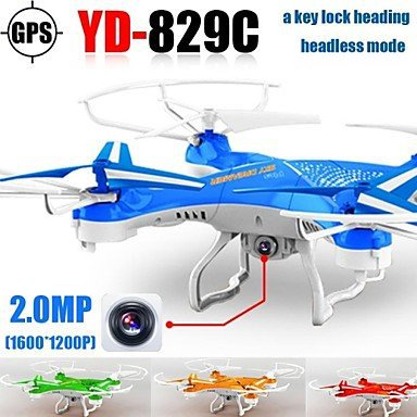 Attop YD829c Drone Hd Camera One Key Lock Heading 2.4g 4ch 6axis Rc Quadrocopter