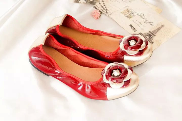 Egg Roll Shoes Dancing Shoes Soft Bottom Large Size Mother Pregnant Women Flowers