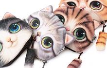 Unisexe Mignon de Bande Dessinée Animale 3D Chat/Chien Visage Sac coin porte-Monnaie Cas Portefeuille Changement Poche Dames Exécution Changement bourse(China (Mainland))