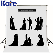Photographic background Wedding Love Fashion Dance Silhouette Bride Couple Black Dress Marriage silhouettes Wedding dress(China (Mainland))