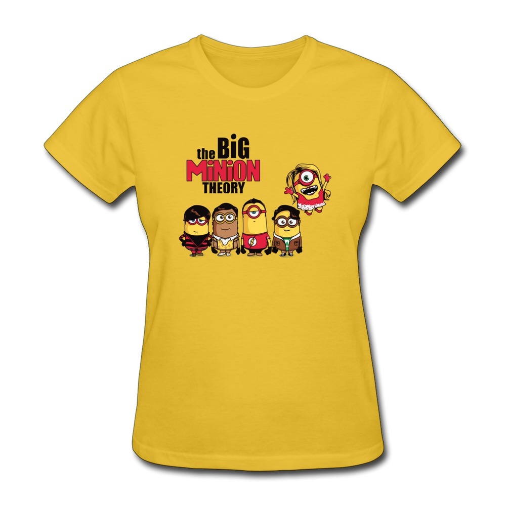 New 2014 Short Sleeve T Shirts Women The Big Minion Theory