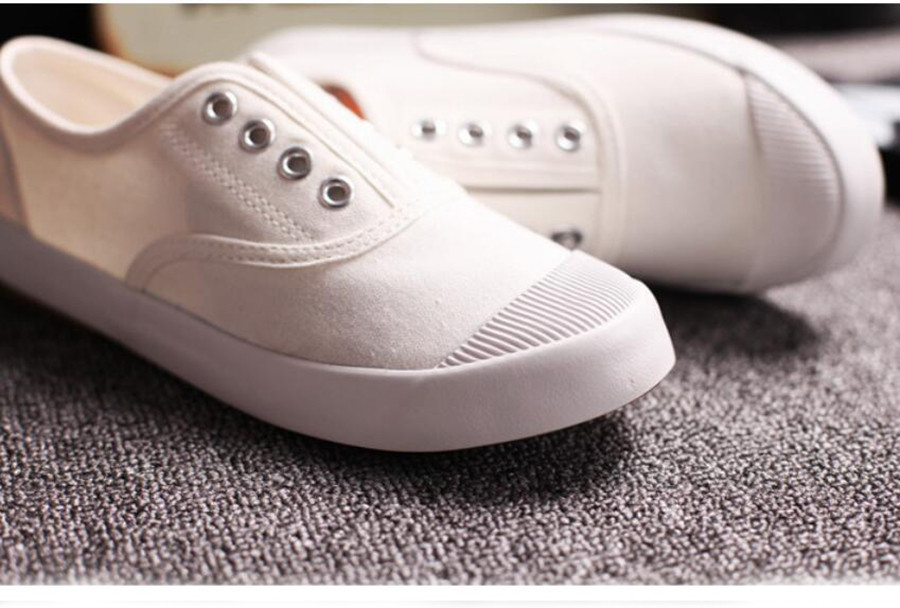 2017 spring summer white canvas shoes women low flat lazy casual shoe candy colors slip-on loafers ladies non-slip footwear