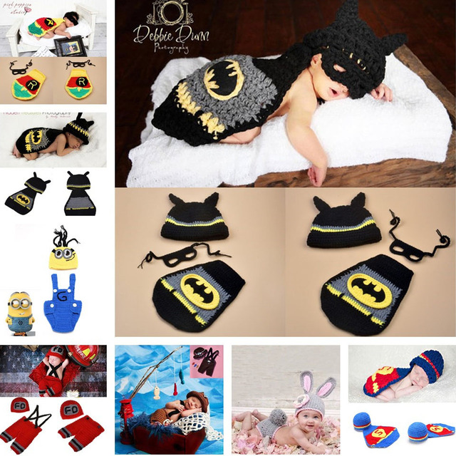 2016 Latest Crochet Baby Hats Photo Props Animal Designs Infant Baby Photography Porps Costume Knitted Hat&Caps 1pc MZS-14049