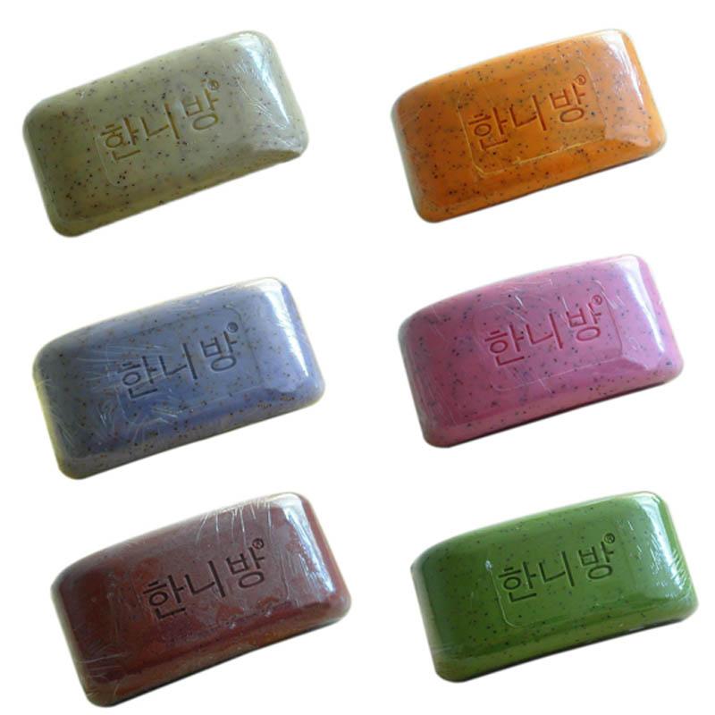 100% Pure Nature Elements Organic Bath Soap Flower Plants Essence Volcanic Clay Shower Handmade Soap(China (Mainland))